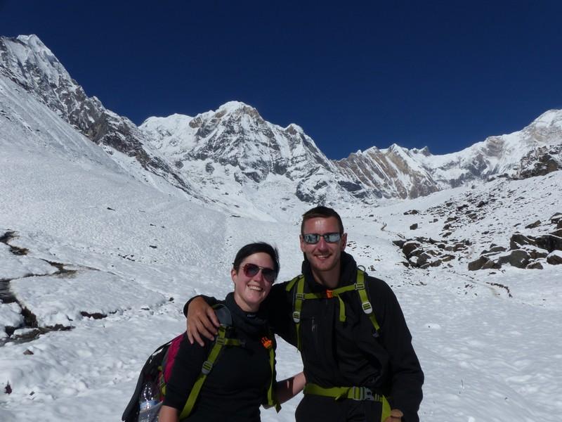 Annapurna on the background