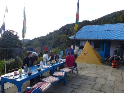Outside breakfast at lodge
