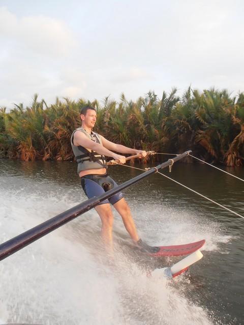 Water ski at the bar