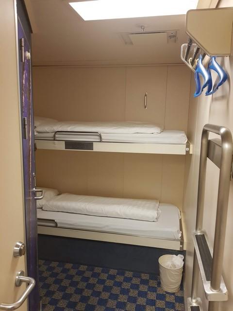 Pride of Bruges - inside cabin with bunk bed