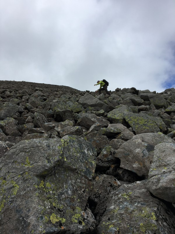 Rock wall of Ben Nevis