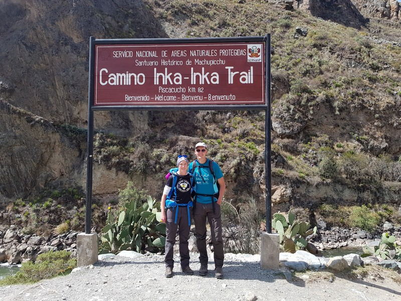 Km 82 and start of Inca trail