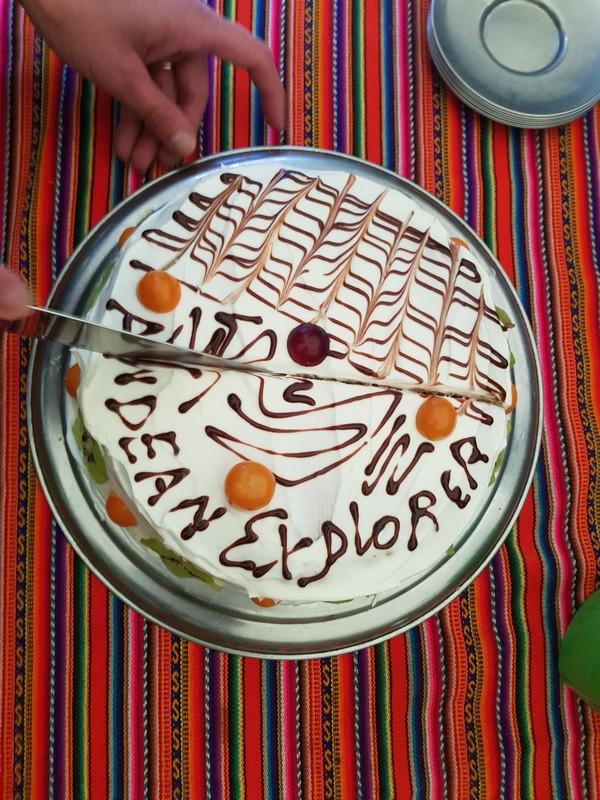 Cake during a trekking!