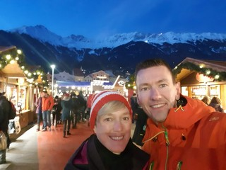 Enjoying Christmast market in Innsbruck